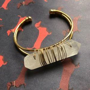 NWOT Anthropologie pink stone bracelet